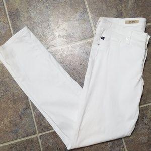 AG stilt cigarette white jeans 30x30